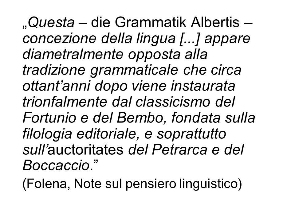 """""""Questa – die Grammatik Albertis – concezione della lingua ["""